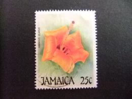 JAMAICA 1987 NAVIDAD FLORES Hibiscus Yvert 696 FU - Jamaica (1962-...)