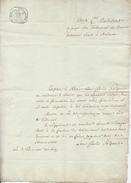 379/25 - Document Sur Papier Fiscal - An 10 - Vers Président Du Tribunal 1è Instance De MALINES - 1794-1814 (Période Française)