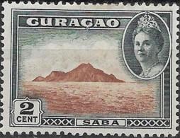 CURACAO 1942 Saba -  2c. - Brown And Black MH - Curaçao, Nederlandse Antillen, Aruba