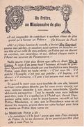 Andachtsbild - Image Pieuse - Un Prêtre, Un Missionnaire De Plus - Sacré-Coeur - 8*12cm (29453) - Andachtsbilder