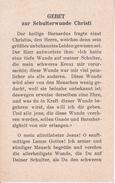 Andachtsbild - Image Pieuse - Gebet Zur Schulterwunde Christi - Kanisius-Verlag Freiburg - 7*11cm (29454) - Andachtsbilder