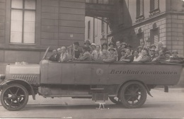 Berolina Rundfahrten - Orig.Fotokarte Um 1930?, Rückseite Der Karte Stark Fleckig S.Scan - Automobile
