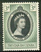 TRISTAN Da CUNHA 1953 QEII Coronation 3d., XF MNH, MiNr 13, SG 13 - Stamps