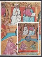 Umm Al Qiwain 1972 Dante Beatrice Divina Commedia Paradiso Miniatura Illustrazione Fg. 5 - Scrittori