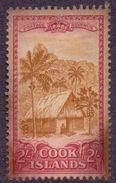COOK ISL. 1949 Native Hut And Palms 2s. Mint No Gum, SG 158 - Stamps