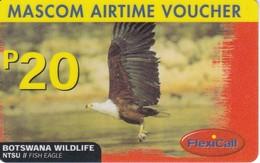 TARJETA DE UN AGUILA DE BOTSWANA WILDLIFE  (EAGLE-BIRD) - Botswana
