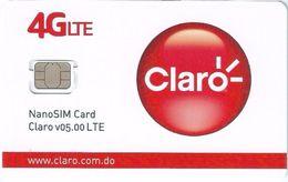 DOM.REP : GSM SIM Nano (fixed)  CLARO 4GLTE    NEW - Dominicana