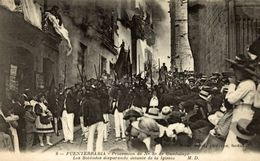 FUENTERRABIA - PROCESION DE NUESTRA SEÑORA DE GUADALUPE, SOLDADOS DISPARANDO DELANTE LA IGLESIA - Guipúzcoa (San Sebastián)