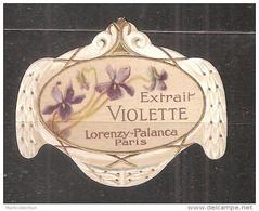 ETIQUETTES  DE  FLACON   DE  PARFUM    LORENZY & PALANCA - Labels