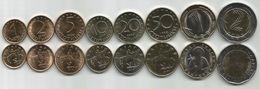 Bulgaria 1999-2015. Complete Coin Set Of 8 Coins UNC 1,2,5,10,20,50 Stotinki,1 And 2 Leva - Bulgaria