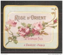 ETIQUETTE  DE  FLACON  DE PARFUM    Jean  GIRAUD  GRASSE - Labels