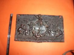Ancienne Plaque Riveté, Décor Angelo - Kupfer