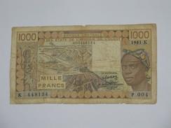 1000 Mille Francs 1981 -SENEGAL - Banque Centrale Des états De L´Afrique De L´ouest  **** EN ACHAT IMMEDIAT **** - Senegal