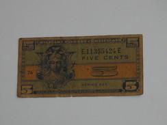 5 Five Cents Série 521 Miltary Payment Certificate 1954-1958 *** EN ACHAT IMMEDIAT *** - Certificados De Pagos Militares (1946-1973)
