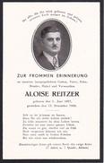 Partezettel Parte Todesanzeige - Aloise Reitzer - 1938 - 7*11cm (29465) - Todesanzeige