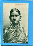 CEYLON-Tamil Woman-femme Avec Ses Bijoux-oblitération Maritimev1906 Marseille à Yokohama - Sri Lanka (Ceylon)