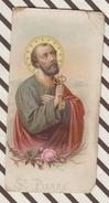 7AJ113  IMAGE PIEUSE RELIGIEUSE SAINT PIERRE 2 SCANS - Images Religieuses