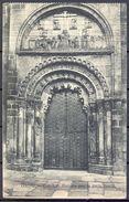 1934 , GALICIA - ORENSE , CATEDRAL : PORTADA POR LA PARTE NORTE , TARJETA POSTAL CIRCULADA - Orense