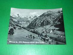 Cartolina Ollomont - Panorama Sfondo Gran Combin 1952 - Italy