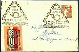 Poland 1960 Cancellation - 100 Years Of Polish Stamp + Exposition Internationale Philatelistique 1860-1960 - Torun 1 - 1944-.... Republic