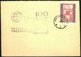 Poland 1960 Cancellation - 100 Years Of Polish Stamp - Warszawa 2 - 1944-.... République