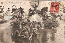 France & Circulad Postal, Bordeaux, Fontaine Des Girondins, S. Francisco California 1912 (30) - Monuments