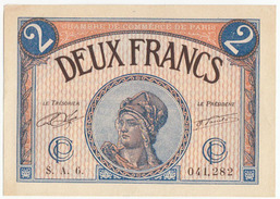 2 Francs, Chambre De Commerce De Paris, 1920, Série A.6, Pirot 97-28, SPL - Chambre De Commerce