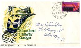 (666) Australia FDC Cover - 1970 -  Standard Railway Gauge (4 Covers) - FDC