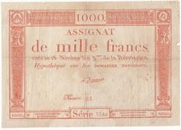 Assignat 1000 Francs, Le 18 Nivôse De L'an 3, Ass-50a - Dreux, B - Assignats & Mandats Territoriaux