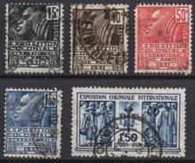 FRANCE 1930 / 1931 - SERIE Y.T. N° 270 A 274  - OBLITERES.. K176 - France