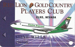 Red Lion Casino - Elko, NV USA - 2nd Issue Slot Card - See Description For Details! - Casino Cards