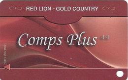 Red Lion Casino - Elko, NV USA - BLANK Slot Card - Best Western Gold Country Logo Bottom Left On Back - Casino Cards