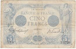 5 Francs, Bleu Type 1905, P.70, F2/29, P.6720, 13/07/1915, B - 1871-1952 Anciens Francs Circulés Au XXème