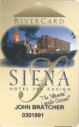 Siena Casino - Reno, NV USA - Slot Card - Cpi 2020181 Over Mag Stripe - Casino Cards