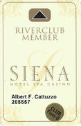Siena Casino - Reno, NV USA - Slot Card With Club Five-0 Senior Sticker - Casino Cards