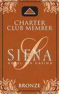 Siena Casino - Reno, NV USA - Slot Card (BLANK) - Casino Cards