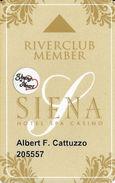 Siena Casino - Reno, NV USA - Slot Card With Young At Heart Senior Sticker - Casino Cards