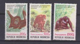 Indonesie 1476-1479 MNH; Apen Monkeys Affen Singes Monos Monkey Aap 1991 NOW MANY ANIMAL STAMPS - Affen
