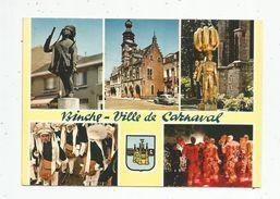 Cp, BELGIQUE , BINCHE , Ville De Carnaval , Multi Vues , écrite , Ed : Thill N° 13 - Binche