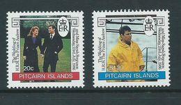 Pitcairn Islands 1986 Prince Andrew Royal Wedding Set 2 MNH - Stamps