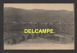 DF / 34  HERAULT / LE POUJOL SUR ORB / VUE GENERALE DEPUIS LAMALOU / CIRCULÉE EN 1917 - Lamalou Les Bains
