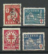 Estland Estonia 1933 Michel 102 - 105 O - Estland