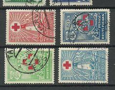 Estland Estonia 1931 Roter Kreuz Red Cross Michel 90 - 93 O - Estland