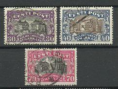 Estland Estonia Estonie 1924/27 Theater Michel 55 & 56 & 62 O - Estland