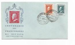 Centenario Dei Francobolli Di Sicilia - Fdc - Anno 1959 Palermo - Italie