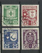 Estland Estonia 1937 Michel 127 - 130 Caritas O - Estland
