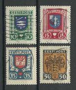 Estland Estonia 1936 CARITAS Michel 109 - 112 O - Estonie