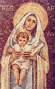 Santino ICONA A MOSAICO MARIA, MADRE D'OGNI UOMO - OTTIMO N53 - Religion & Esotérisme