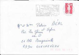 MAINE ET LOIRE 49 - CHALONNES SUR LOIRE - FLAMME VOIR DESCRIPTION - VIGNOBLE LAYON  - 1991 - Marcophilie (Lettres)