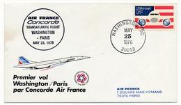 ETATS UNIS - CONCORDE - Premier Vol Washington Paris - 25 Mai 1976 - Concorde
